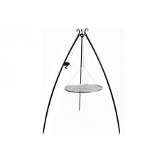 Trojnožka s kladkou 200 cm s roštem 60 cm černá ocel